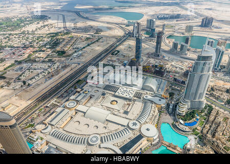Aerial view of Dubai (United Arab Emirates) - Stock Photo