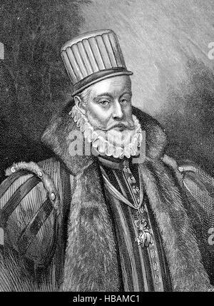 Philip II of Spain, Felipe II, 21 May 1527 - 13 September 1598, called the Prudent, el Prudente, was King of Spain, - Stock Photo
