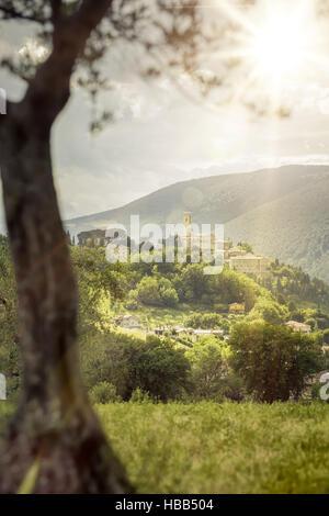 San Severino in Italy Marche - Stock Photo