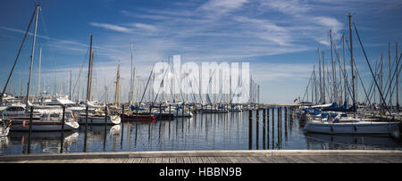 sailing ships in the harbor - Stock Photo