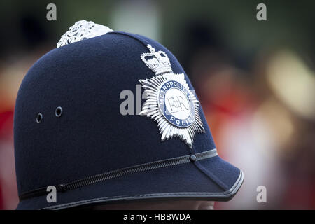 hat of a police man in London - Stock Photo