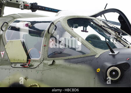 Krasnodar Territory, Russia. 1st Dec, 2016. Pilots in the cabin of Kamov Ka-52, one of the strike helicopters supplied - Stock Photo