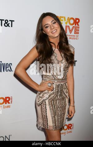 Ava Allan at the TrevorLIVE Los Angeles 2016 at Beverly Hilton Hotel on December 4, 2016 in Beverly Hills, CA - Stock Photo