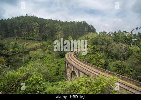 Nine arches bridge, Ella, Sri Lanka - Stock Photo