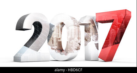 Composite image of digitally generated image of numbers - Stock Photo