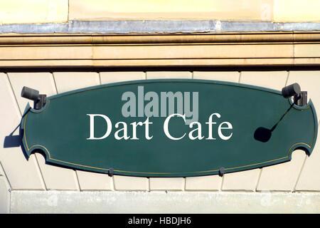shield dart cafe - Stock Photo