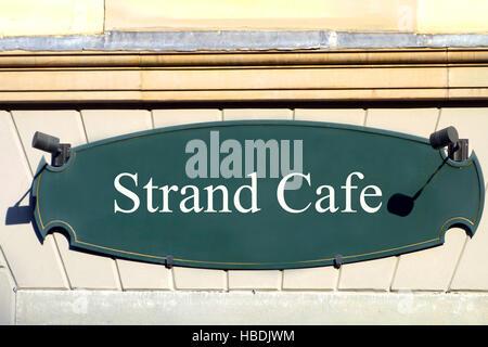 shield  strand cafe - Stock Photo
