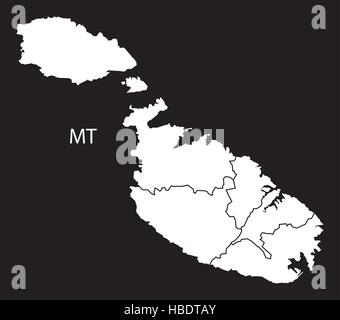 Malta administrative divisions Stock Photo 132534937 Alamy