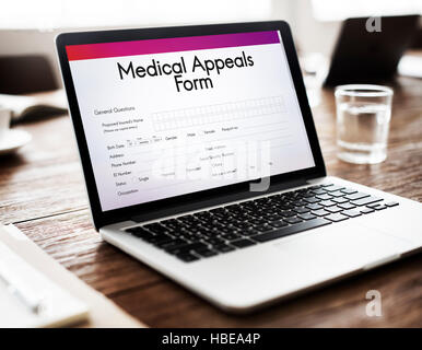Medical Appeals Form Document Healthcare Concept - Stock Photo