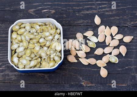 Pumpkin seeds, close up - Stock Photo