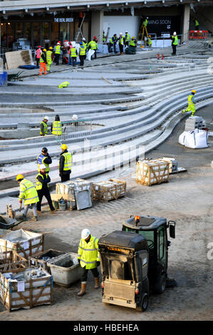 Construction site for the extension of WestQuay - Stock Photo