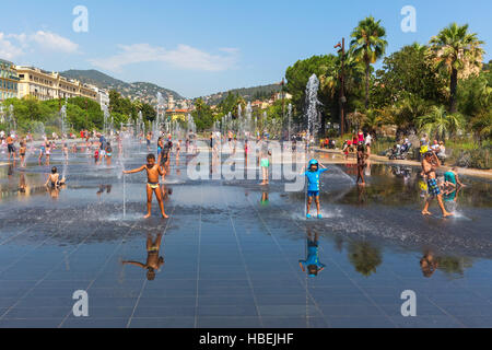 Promenade du Paillon in Nice, France - Stock Photo
