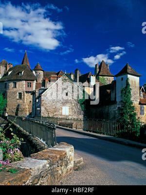 Carrenac village, Lot Province, Midi Pyrenees, France - Stock Photo