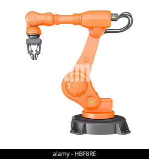 Industrial robot. Clipping path included - Stock Photo