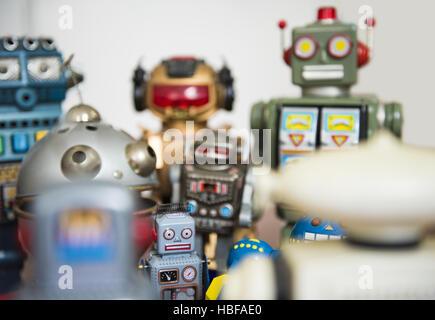meet robots - Stock Photo