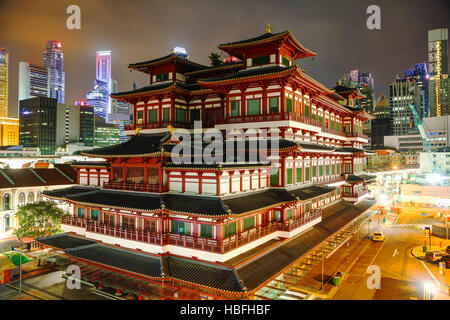 Buddha Tooth Relic temple in Singapore - Stock Photo