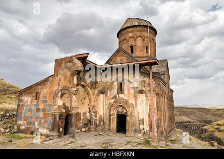 Facade view of Saint Gregory of Tigran Honents in Ani. Ani is a ruined medieval Armenian city situated in Kars. - Stock Photo