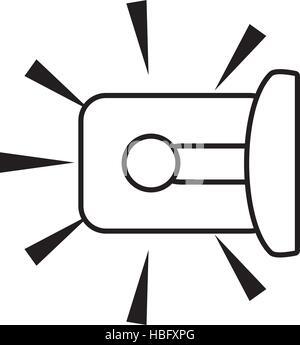 outline warning alarm alert security vector illustration eps 10 - Stock Photo