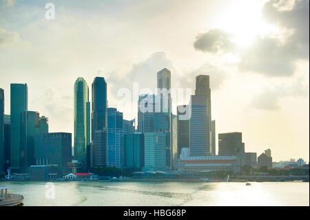 Skyline of Singapore - Stock Photo