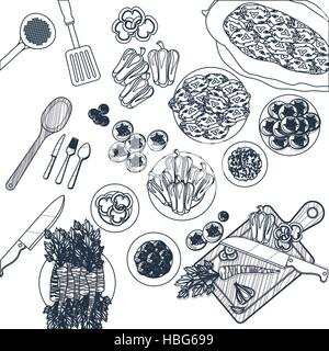 Kitchen Supply Tool And Cooking Theme. Isolated