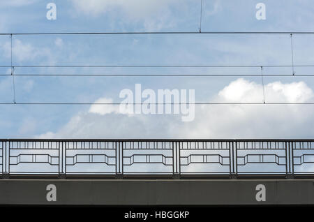 Bridge for electric trains - Stock Photo