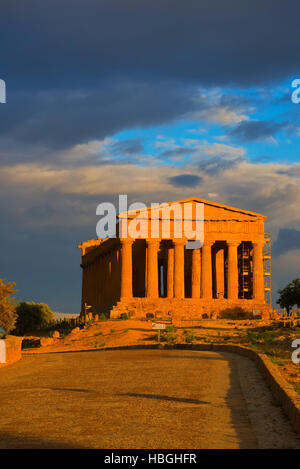 Temple of Concordia, Valley of the Temples, Agrigento, Sicily, Italy - Stock Photo