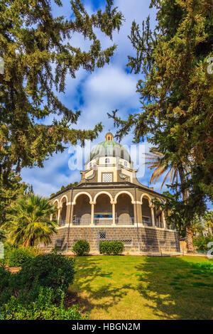 Catholic church Mount Beatitudes - Stock Photo