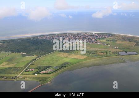 Aerial shot Langeoog Is., Germany - Stock Photo