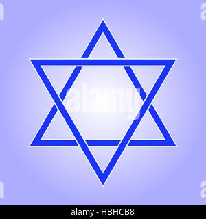 Star of David icon. Star of David flat style. Star of David isolated on white background. Star of David logo. Vector - Stock Photo