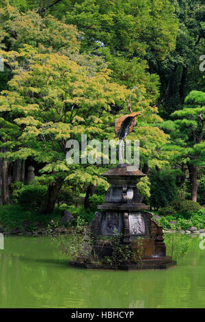 Swan Fountain, Hibiya Park, Tokyo, Japan, Asia - Stock Photo