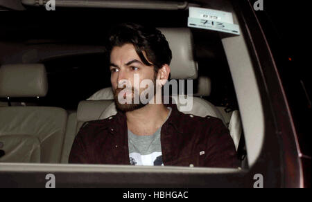 Bollywood actor Neil Nitin Mukesh arrives for Shah Rukh Khan's party at his bungalow Mannat, in Mumbai - Stock Photo