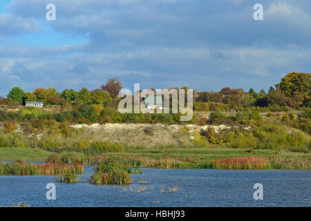 College Lake Nature Reserve, Tring, Hertfordshire, UK - Stock Photo