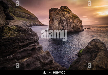 Giant rock on the sea - Stock Photo