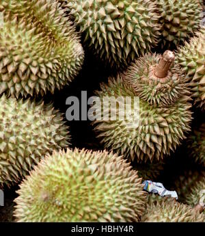 Durian for sale in Bangkok's Chinatown. - Stock Photo