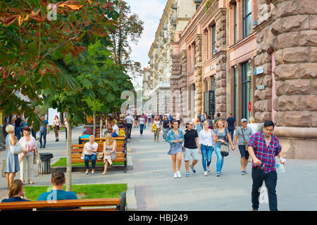 Khreshchatyk street. Kiev, Ukraine - Stock Photo