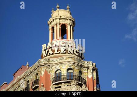 Banco de Valencia, italy - Stock Photo