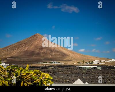 Volcanoe in central Lanzarote - Stock Photo