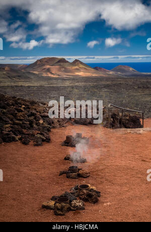 Hot water and steam vents - Stock Photo