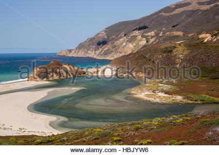 Little Sur River, Big Sur, California, USA - Stock Photo