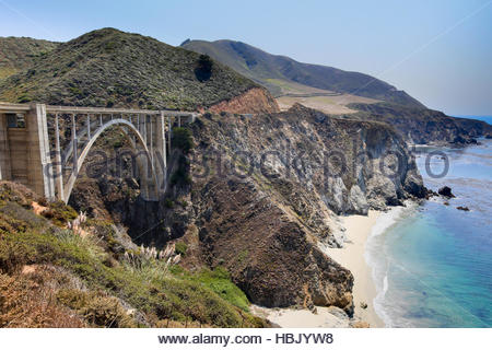 Bixby Bridge, Big Sur, California, USA - Stock Photo