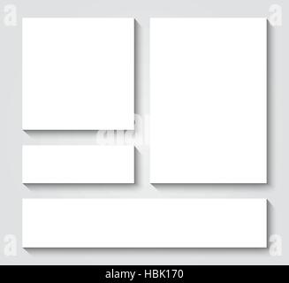 Vector blank card templates - Stock Photo