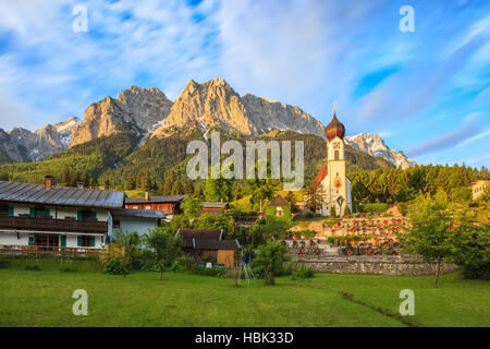 Zugspitze top of Germany - Stock Photo