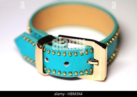 Bracelet strap isolated on white - Stock Photo
