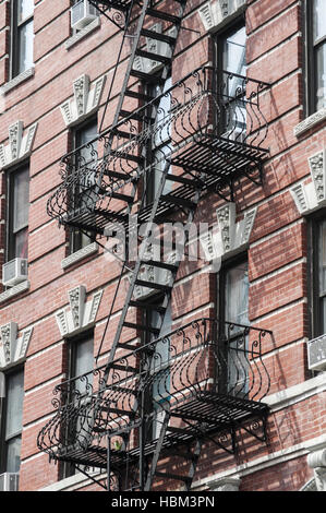 External fire escape staircase - Stock Photo