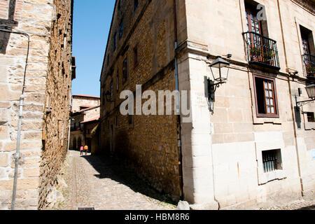 Canton Street - Santillana del Mar - Spain - Stock Photo