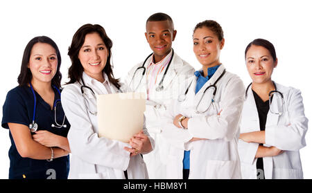 Happy smiling doctor physician nurse team - Stock Photo