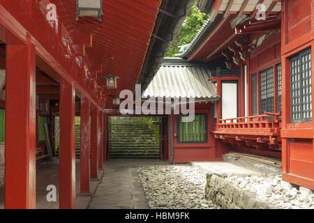 japanese temple inner yard - Stock Photo