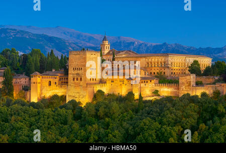 Alhambra Palace, Granada, Andalucia, Spain - Stock Photo