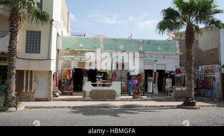 small town santa maria on sal island - Stock Photo