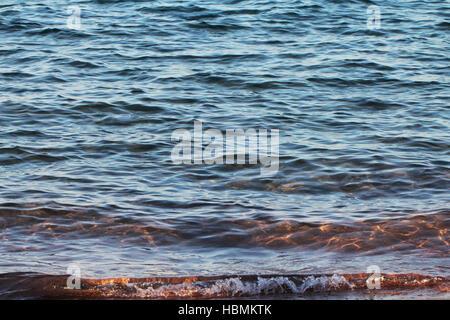 Sea waves on the beach - Stock Photo
